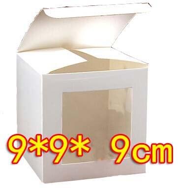 50pcs Lot 9 9 9cm White Cardboard Birthday Gift Model Packing