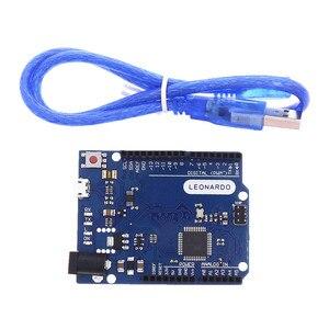 Для Leonardo R3 микроконтроллер Atmega32u4 макетная плата с USB кабель самодельный Набор для начинающих