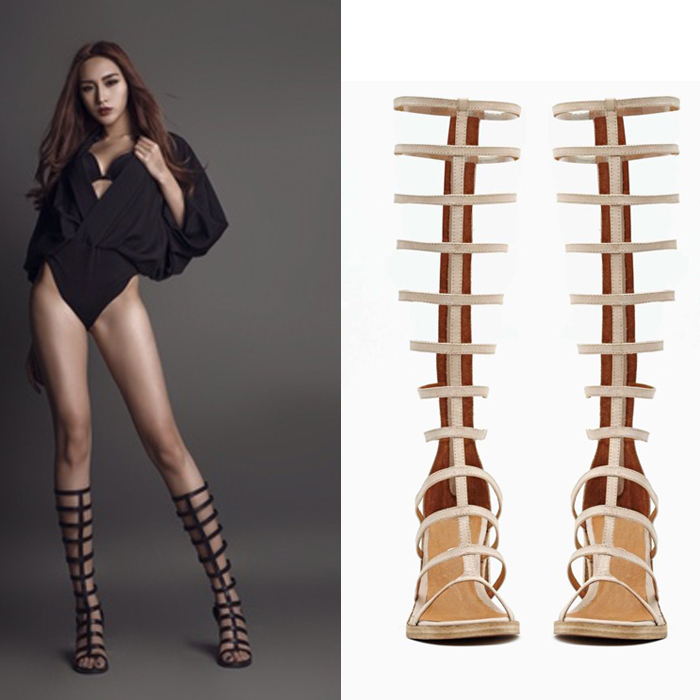 Compare Prices on Knee High Gladiator Sandals- Online Shopping/Buy