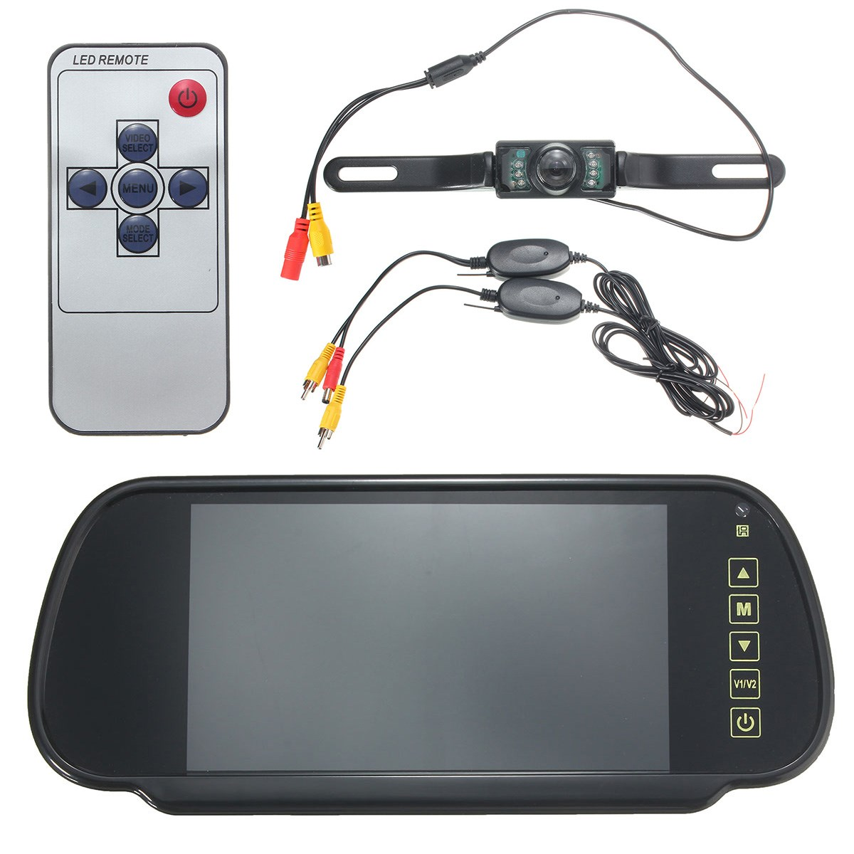 New Arrvial DC12 24V 7 Inch LCD Car Rear View Mirror Monitor Wireless Night Vision Backup