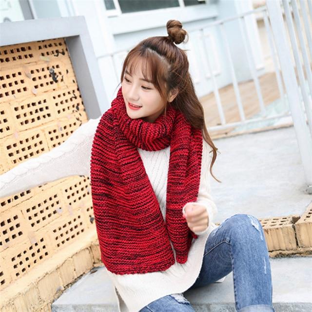Winter Warm Men Women Knit Cowl Neck Long Scarf New Arrival 2018