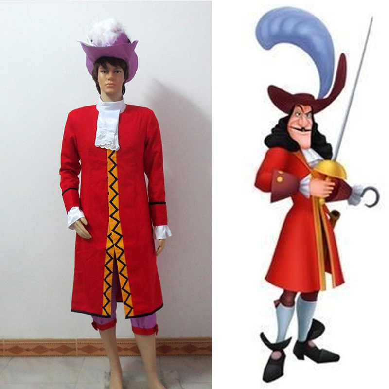 Perfect Peter Pan Captain Hook Cosplay Costume Outfit Halloween Carnival Party  Costume Full Set Custom In Movie U0026 TV Costumes From Novelty U0026 Special Use  On ...