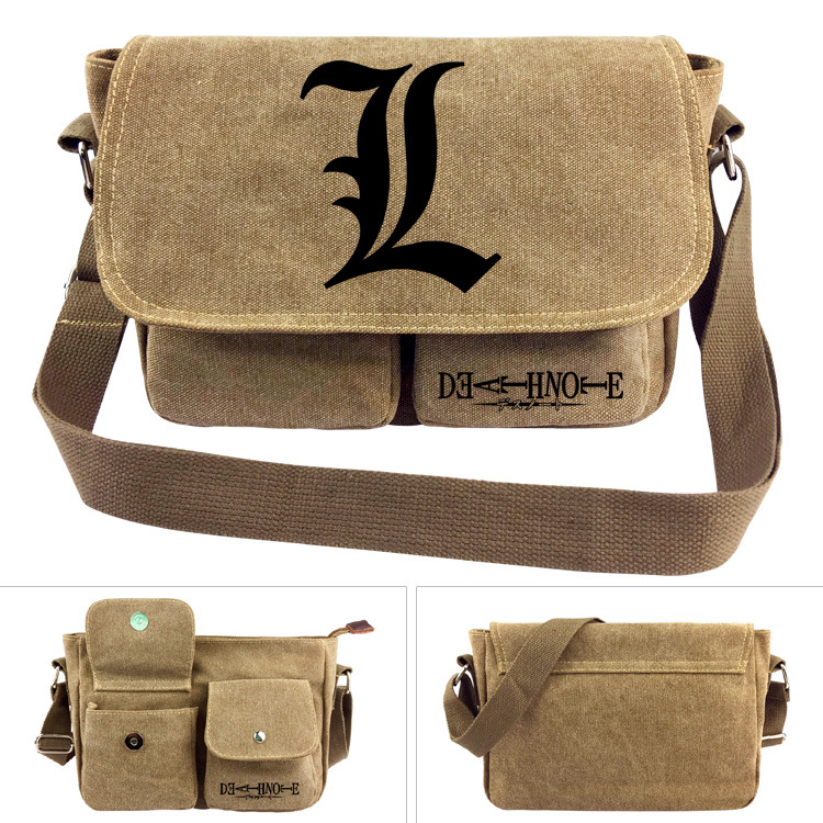 Anime Death Note Canvas Student Shoulder Bag #2113 Fashion Teenage Kids  Crossbody Bag Christmas Gift