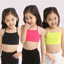 V-TREE топы с бретельками для девочек, хлопковый топ для девушек, детская майка для девочек, яркие цвета, нижнее белье для девочек, детское нижнее белье