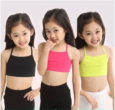 Girls tank tops COTTON girls camisole child singlet for girls candy color girls undershirt kids underwear model girl