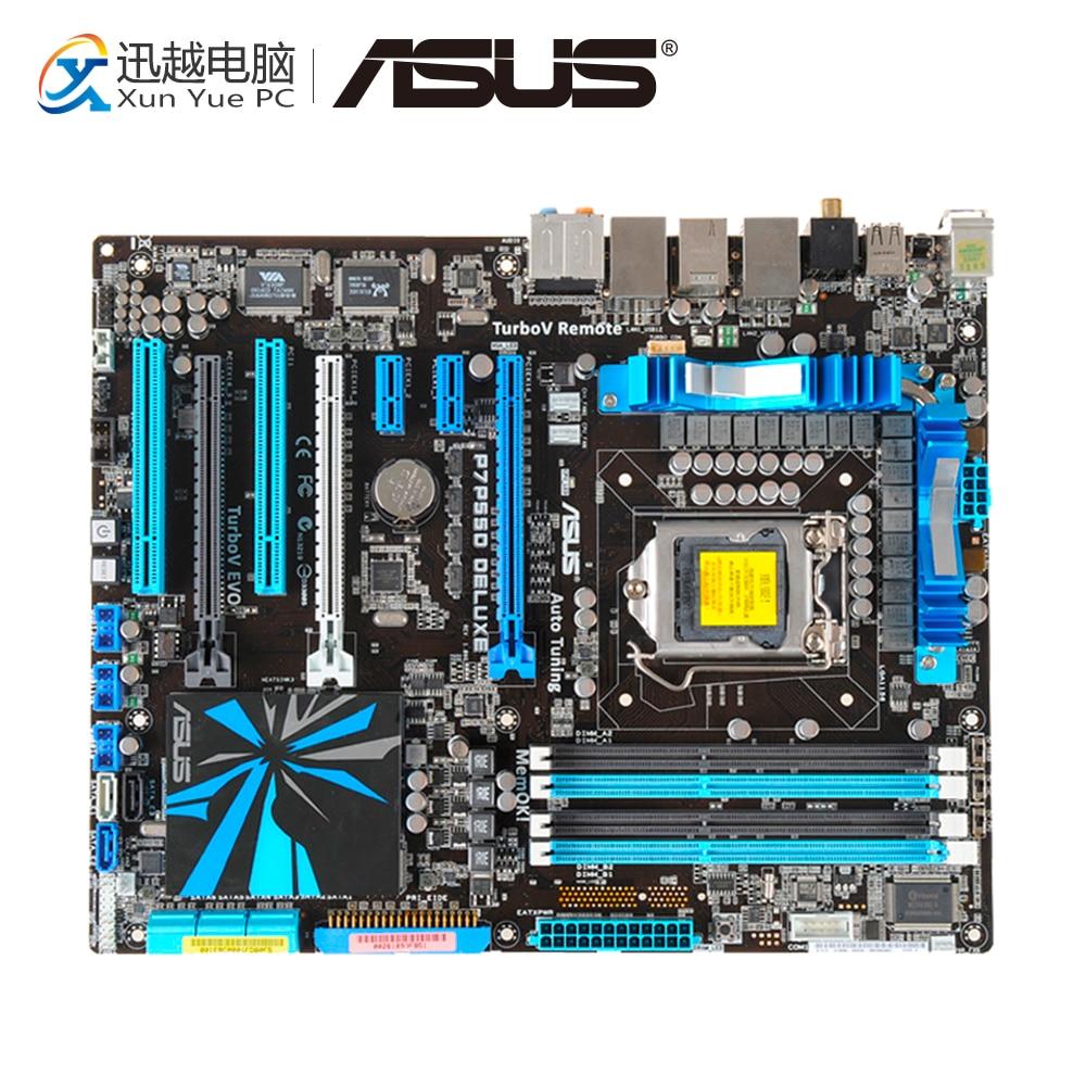 цена на Asus P7P55D DELUXE Desktop Motherboard P55 LGA 1156 i5 i7 DDR3 16G SATA2 USB2.0 ATX