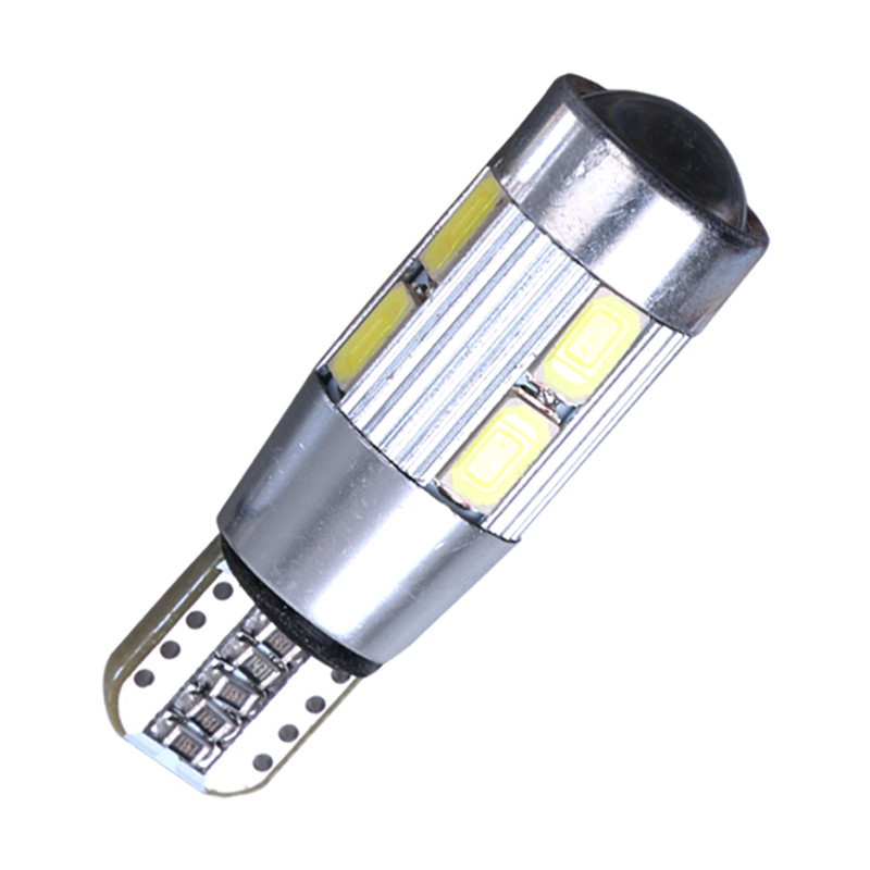 T10 led W5W 10 SMD 5630 LED Wedge Lamp CANBUS NO ERROR Car Parking Light 10SMD LED Auto Interior Doom Reading Bulb white ...
