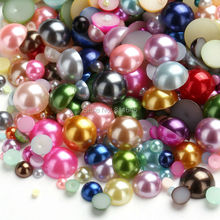 mix color 2-10mm Mixed Size Half Round pearl Craft ABS Imitation Pearls Resin Flatback Scrapbook Beads Decorate Diy