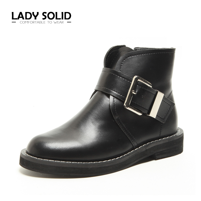 2018 Autumn Winter Woman Ankle Boots Black Genuine Leather Chelsea Boots 35-40 Fashion Women Boots #7712 цены онлайн