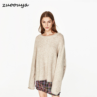 New Pattern Double Color Sweater Gray Large Size Fashion Easy Pullover Women S Sweaters 131203