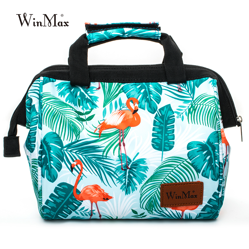 Winmax Brand Women Men Fashion Icepack Container Thermal Insulated Food Picnic Cooler Lunch Bags for Kids Tote Portable Lunchbox sannen 7l double decker cooler lunch bags insulated solid thermal lunchbox food picnic bag cooler tote handbags for men women