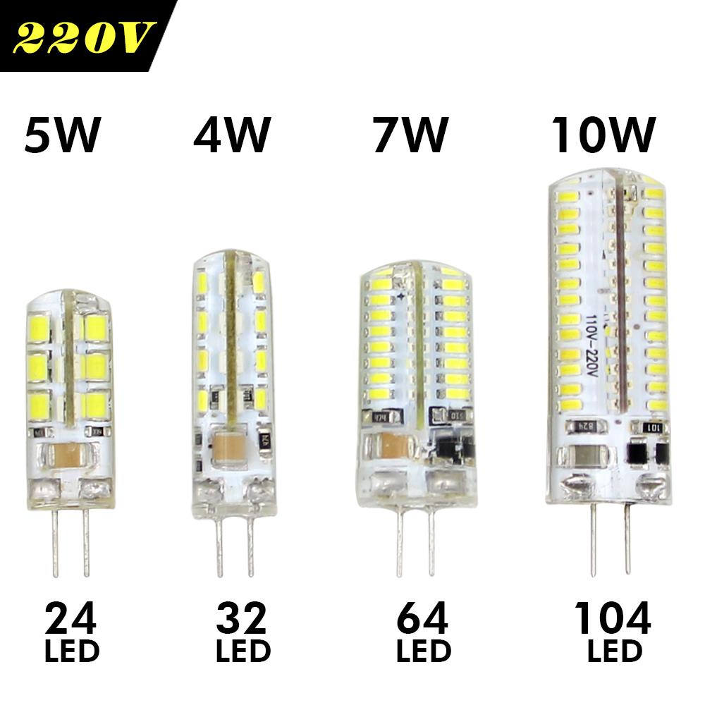Led 220v Us 1 22 30 Off Led Corn Light G4 Led Bulb 220v 3w 4w 5w 6w 7w 9w 10w Led Spot Light Dc 12v Ac Led Lamp Home Lighting Ampoule Chandelier Lights In