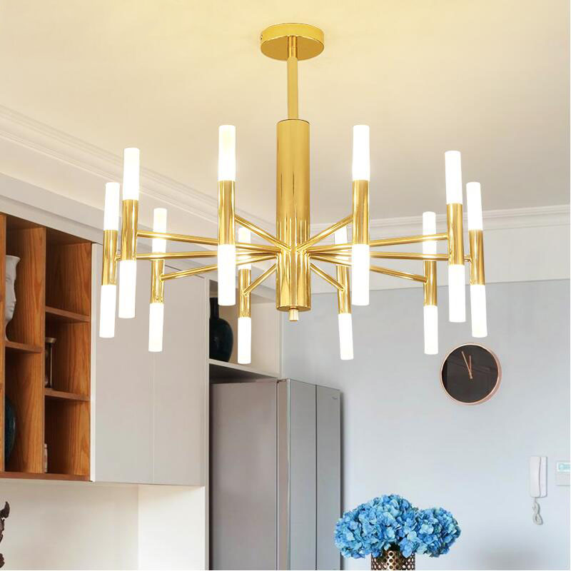 Post modern living room bedroom Nordic Pendant Lights gold Black Restaurant iron pendant lamp G4 LED Bulb 220V in Pendant Lights from Lights Lighting