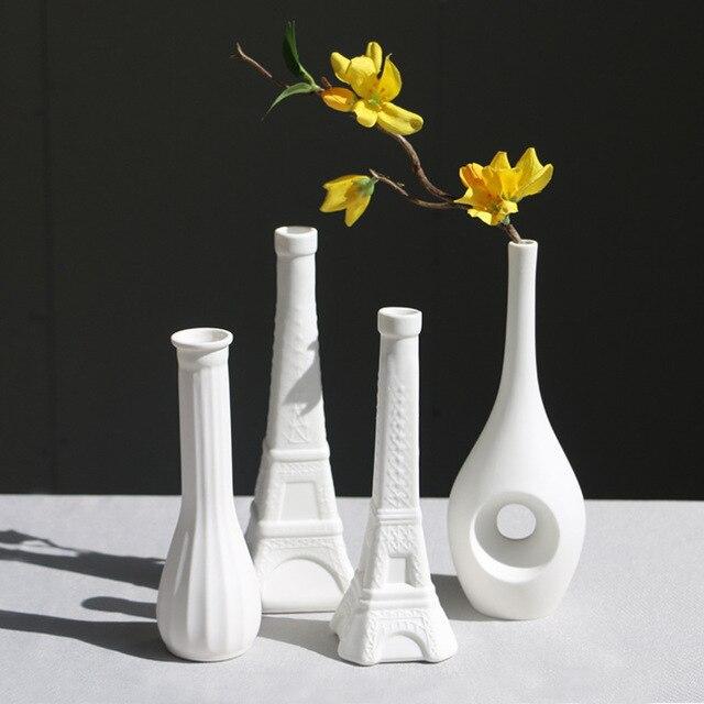 Desktop Vases Modern Home Garden Craft Tabletop Ceramic Vase For