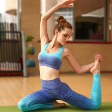 Women Yoga Sets Bra+Pants Sport Suit For Female Fitness Workout Clothing And Women's Gym Sports Running Girls Slim Leggings+Tops