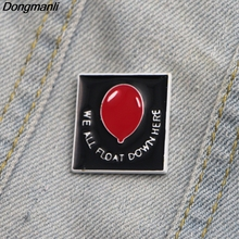 L2388 We all float down here Pennywise Joker Enamel pin and brooches Lapel Pins Badge