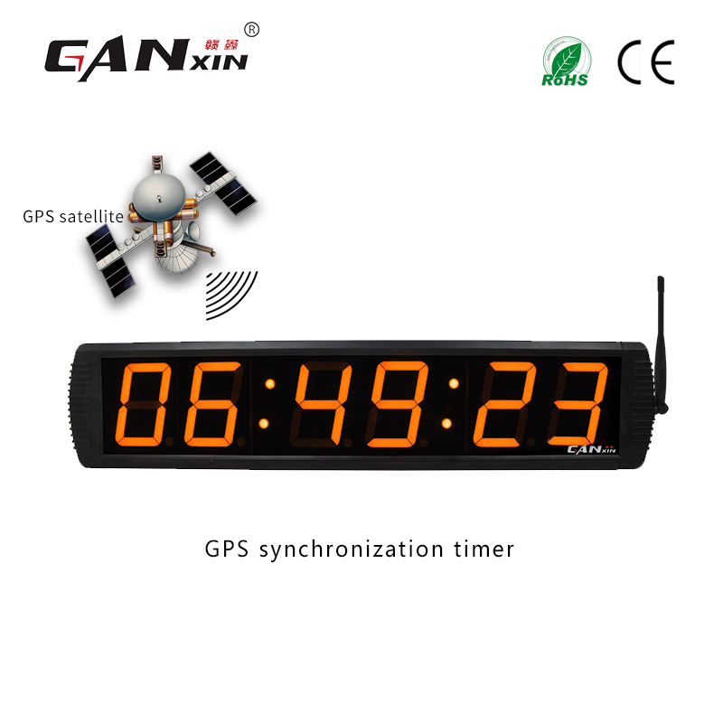 [Ganxin]Led clock gps Large Digital LED Wall Clock Home Decoration Coordinated Universal Time