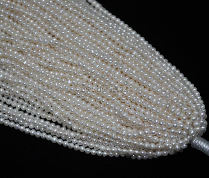 도매 10 strands 3.5 4mm 정품 담수 화이트 진주 많이-에서구슬부터 쥬얼리 및 액세서리 의  그룹 1