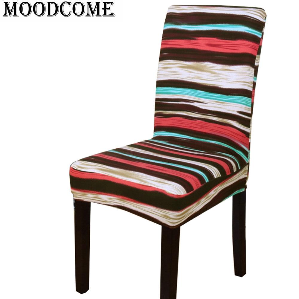 Colorful stripe chair cover housse de chaise lycra 2018 - Housse de chaise spandex ...