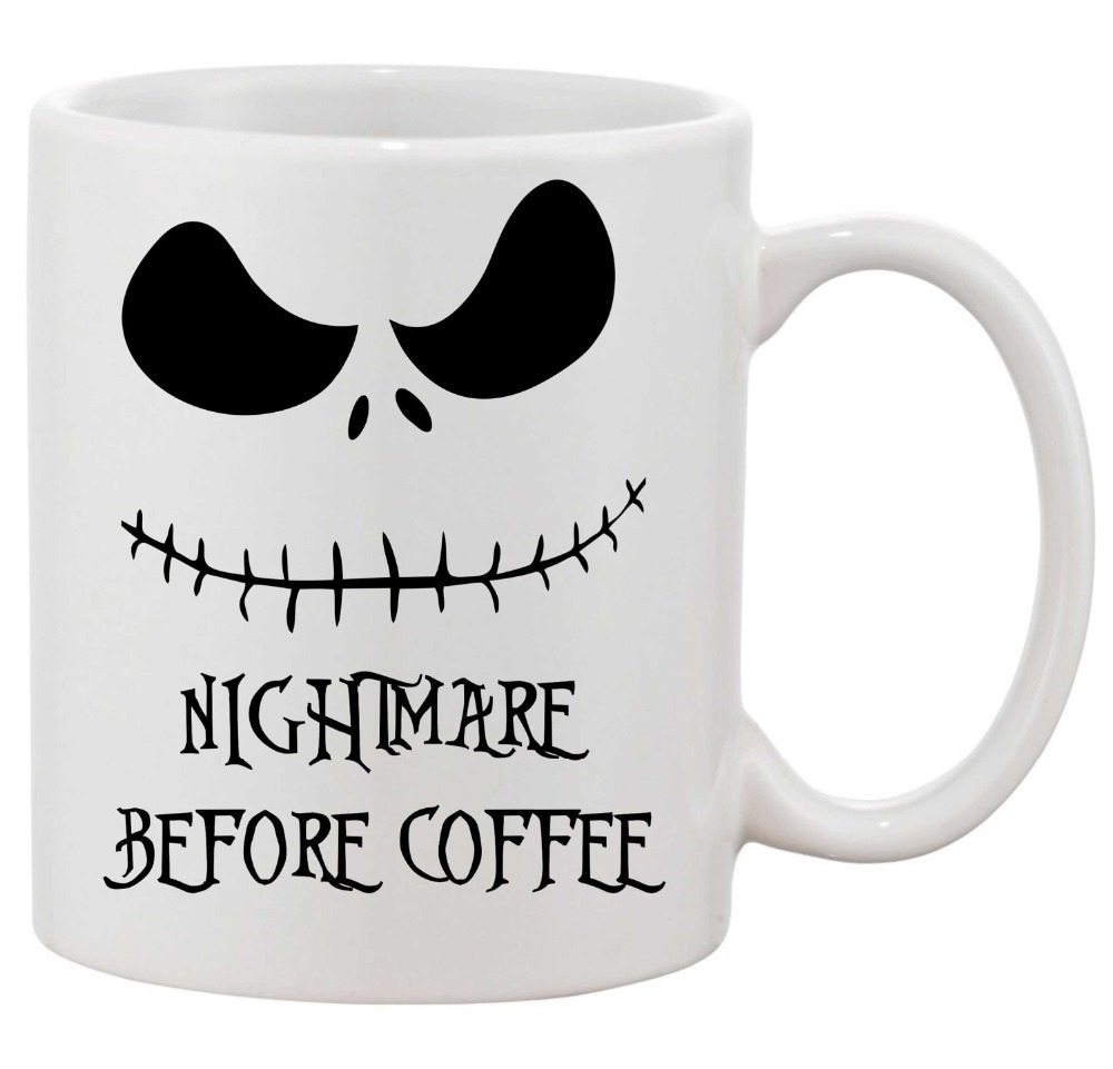 Nightmare Before christmas Mugs Skellington Nightmare Before coffee ...