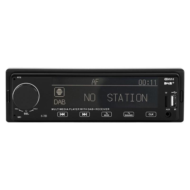 Lecteur MP3 stéréo de voiture DAB récepteur Radio Bluetooth RDS AUX AM FM Audio numérique RCA diffusion Audio dans l'unité de tête de tableau de bord