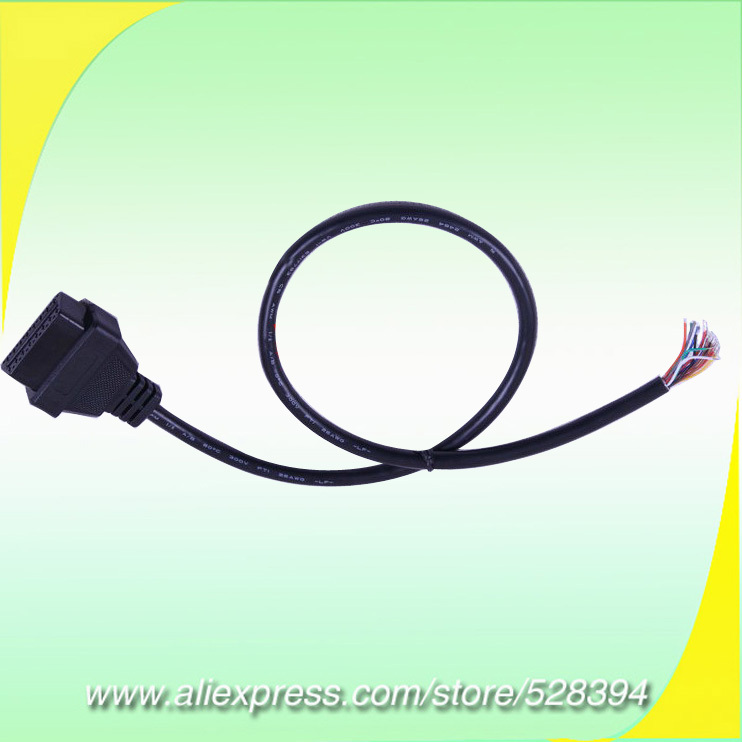 Wholesale Auto Car Diagnostic Cable OBD2 OBD 2 OBD-II OBDII 16PIN Female TO End Open OBD CABLE 16 PIN J1962F TO OPEN