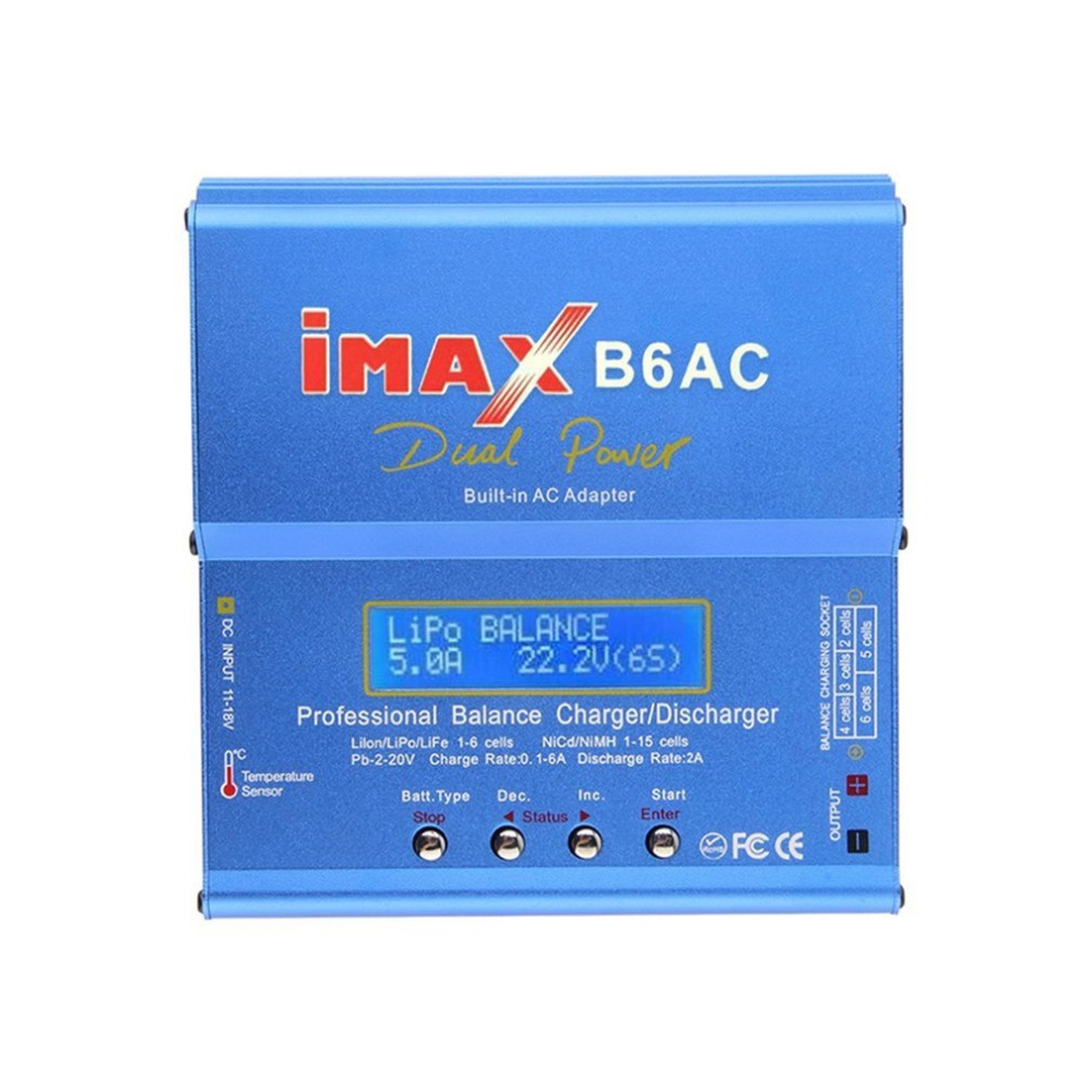 80W iMAX B6AC 100V-240V Car Charger Lipo NiMH 3S RC Lithium Battery Balance Digital LCD Screen RC Hobby imax b6 ac b6ac lipo nimh 3s rc battery balance charger
