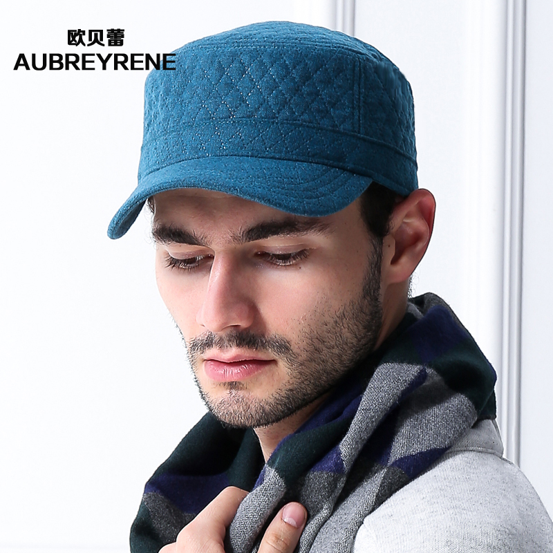 Male youth baseball cap hat winter outdoor thick flat peaked men's Winter Hat B-1521