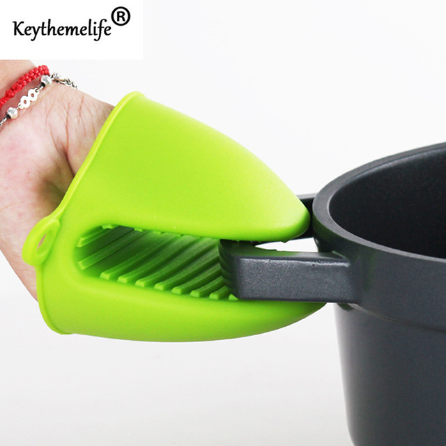 Keythemelife Candy Colors 1PCS Kitchen Cooking Microwave Oven Mitt Insulated Non-slip Glove Baking Tool 1C