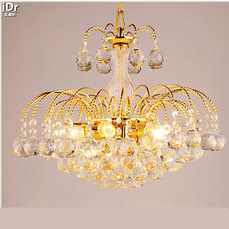 Chinese Modern Minimalist Luxury Fashion Golden Restaurant Lights Living Room Bedroom Crystal Light Gold Chandeliers Lmy