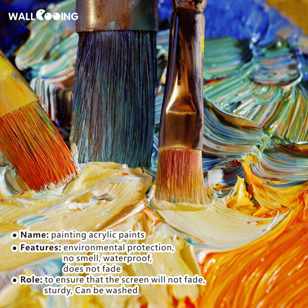Trīs gabalu ar rokām apgleznotas audekla eļļas gleznas Mūsdienu - Mājas dekors - Foto 5
