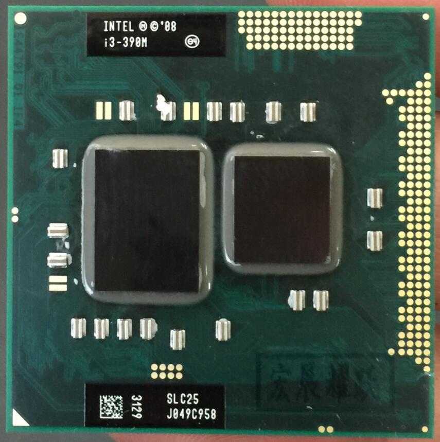 Processeur Intel Core i3-390M i3 390 M ordinateur portable double coeur CPU PGA988 cpu