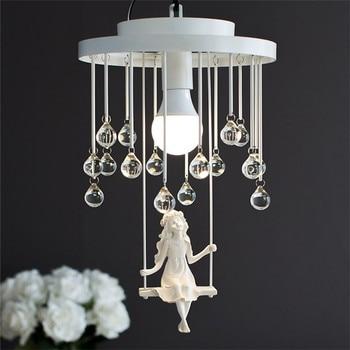 LED 110-220V Nordic angel pendant light 26*38CM White/Black North European style Free shopping pendant lamp Including bulb