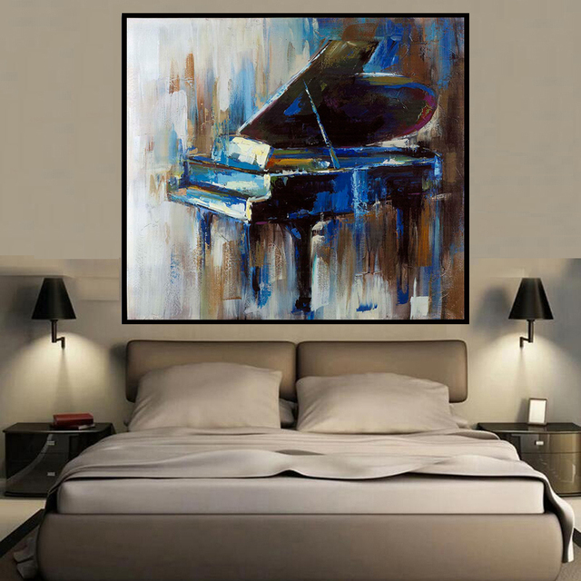 Square Abstract Colors Piano Style Wall Art Oil Painting Home Decoration Bedroom  Living Room Paintings On Good Looking