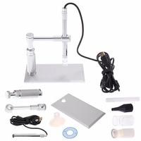 2MP Digital Microscope 500X 8LED Usb Microscope Otoscope PCB Inspection Camera Endoscope Loupe Webcam