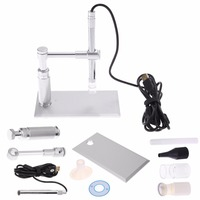 2MP Digital Microscope 500X 8LED Usb Microscope Otoscope PCB Inspection Camera Endoscope Loupe Webcam