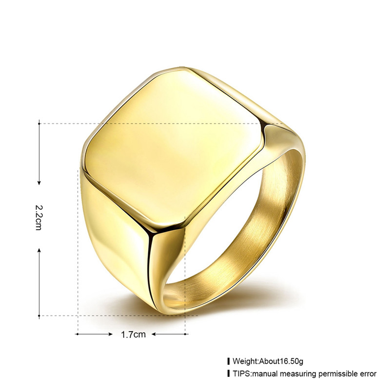 Hot 316L stainless steel Golden finger ring man jewelry fashion ...