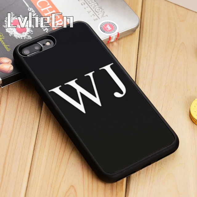 the latest c6842 cb723 US $3.18 20% OFF|LvheCn Personalised Initials Name style Phone Case Cover  For iPhone 5 5s SE 6 6s 7 8 10 X Samsung Galaxy S6 S7 edge S8 S9 plus-in ...
