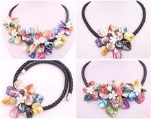 Красота разноцветное ожерелье из ракушек 175 дюйма подвеска