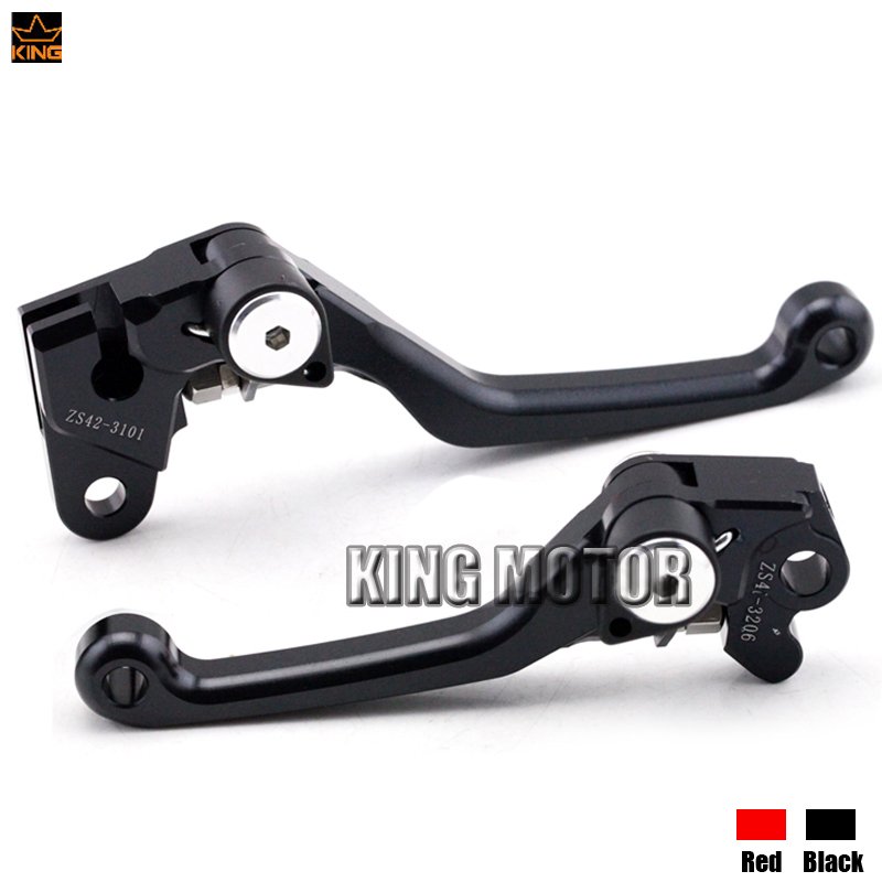 For HONDA CRF125R CRF250R CRF250X CRF450X CRF 125R 250R 250X 450X Motocross dirt bike CNC Pivot Brake Clutch Levers Black