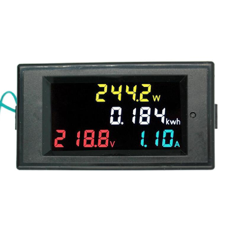 4IN1 HD color screen LED Display 180 degrees Flawless panel Voltmeter ammeter energy meter active power AC 80-300V 100A 40%off