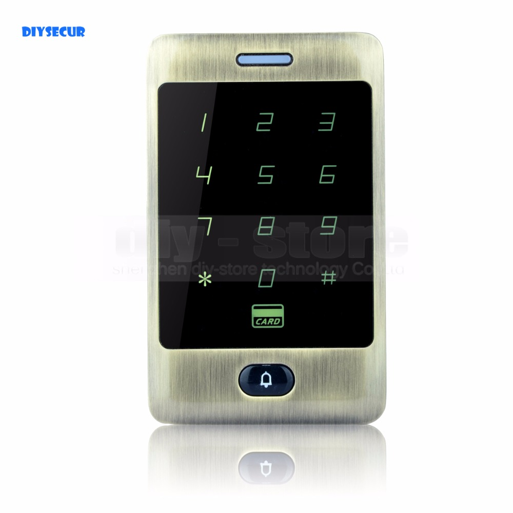DIYSECUR 125KHz RFID Card Reader Touch Panel Backlight Access Controller Password Keypad C30 diysecur lcd 125khz rfid keypad password id card reader door access controller 10 free id key tag b100