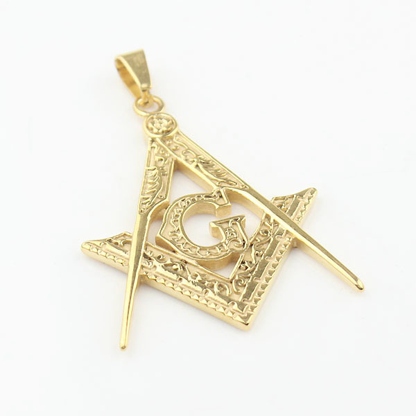 Mens gold 316l stainless steel free mason freemason masonic mens gold 316l stainless steel free mason freemason masonic pendant with necklace in pendants from jewelry accessories on aliexpress alibaba group aloadofball Gallery