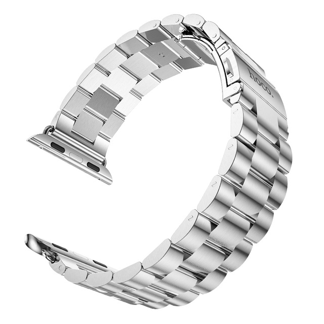 22mm Stainless Steel Watchbands Smart Watch link bracelet watchband Chain butterfly clasp  Metal Strap for Apple Watch 42mm