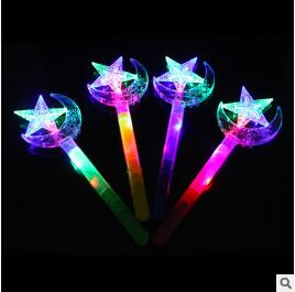 Toys & Hobbies Novelty & Gag Toys Hot 34cm New Led Magic Wand Flashing Light Up Glow Big Sticks Moon Star Butterfly Sticks Yh971 And To Have A Long Life.