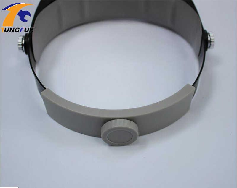 Новый Лупа-микроскоп шлем стиль увеличительное стекло es vergrootглаs Lupas Con Luz светодиодный светильник для чтения ремонт