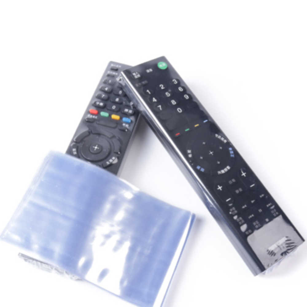 10 Pcs/set Clear Shrink Film TV Remote Control Case Cover Air Kondisi Remote Control Pelindung Anti Debu Tas