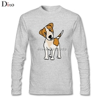 Cool Funny Puppy Jack Russell Terrier Dog T Shirt Men Boy Crazy Custom Long Sleeve Valentine
