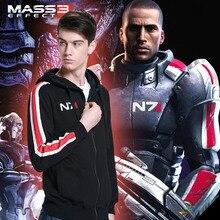 Mass effect.N7 Fleece Zip Hoodie sweater sweater coat around the game clothes