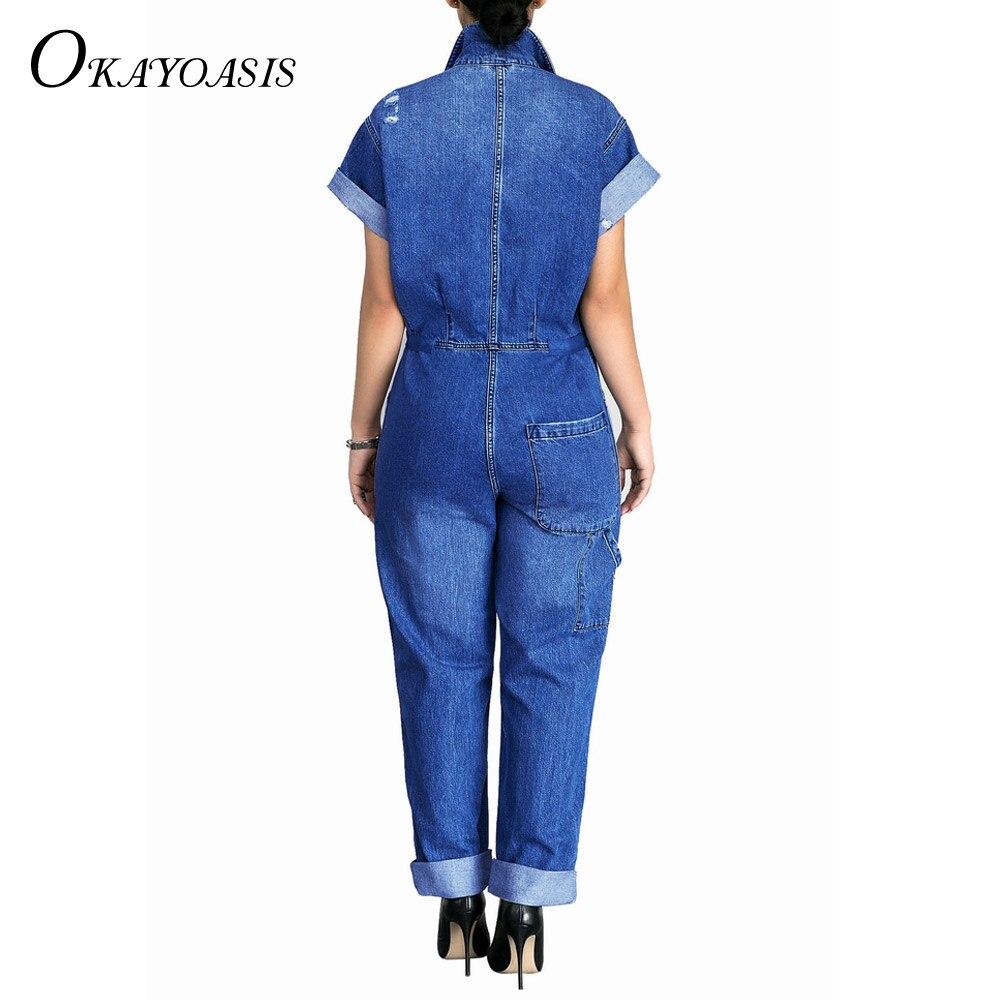 6af1df3436d ... Casual Loose Summer Short Sleeve Denim Overalls Large Size Pockets  Jeans Jumpsuits Rompers. product show. SMR8788 SMR8788-(1) SMR8788-(2)  SMR8788-(3)